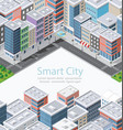 smart city in isometric vector image