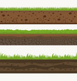soil seamless layers ground layer stones and vector image vector image