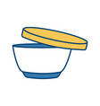 soup bowl food vector image
