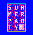 summer party poster design layout neon color vector image vector image