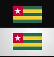 togo flag banner design vector image vector image