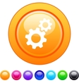 Tools circle button vector image vector image
