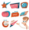 Vintage Style Retro Badges and Emblems vector image vector image