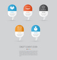 web icons set collection of team display vector image vector image