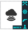 wi-fi cloud icon flat vector image