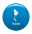 thailand map in black simple vector image