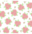 beautiful bouquets of roses Seamless pattern vector image