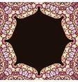 Abstract circle floral ornamental border vector image