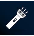 flashlight icon torch pocket light shine isolated vector image