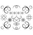 page design elements vector image