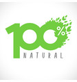 100 percent natural retail logo vector image
