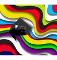 Abstract colorful line background with bubble vector image