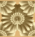 abstract floral gold seamless pattern vector image