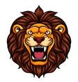 angry cartoon lion head mascot vector image vector image