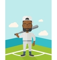 Baseball player on field vector image vector image
