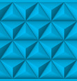 blue 3d geometric pattern with pyramids abstract vector image vector image
