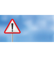 blue sky warning sign vector image