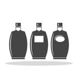 bottle of alcohol flat icon vector image vector image