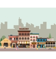 Buildings of small business vector image vector image