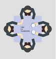 business teamwork in discussion time vector image vector image