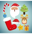 Cartoons set of Chistmas design vector image
