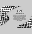 checkered flag background vector image vector image