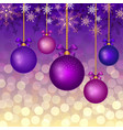 christmas background with balls vector image vector image