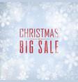 christmas big sale poster vector image vector image