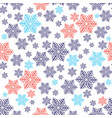 christmas seamless pattern with red and blue vector image vector image