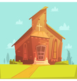 Church Cartoon Background vector image