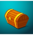 Closed treasure chest pirate treasure icon wealth vector image vector image