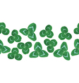 clover garland vector image vector image