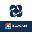 color square camera shutter logo box photo camera vector image