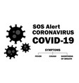 coronavirus symptoms black coronavirus outbreak vector image vector image