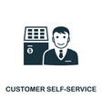 customer self-service icon symbol creative vector image
