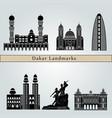 dakar landmarks vector image vector image