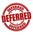 deferred grunge rubber stamp vector image vector image