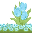 Design of tulips Flower background vector image vector image