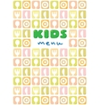 Design template background or cover for Kids Menu vector image