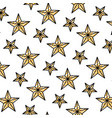 doodle nice bright star universe background vector image vector image