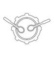 drum icon idesign vector image