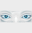 face with eyes the robot futuristic machine stock vector image vector image