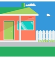 family house landscape vector image vector image