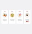 fast food cafe takeaway product menu ux ui vector image vector image