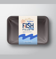 fish fillets pack abstract fish plastic vector image vector image