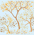 forest seamless background garden tree pattern vector image