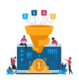 funnel leads generation inbound marketing and vector image vector image