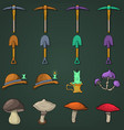 game items flat vector image