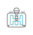 gear box thin line stroke icon gear box vector image vector image