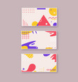 geometric elements abstract flat vector image vector image